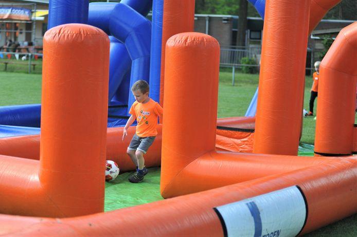Er waren verschillende sportactiviteiten, met voetbal als rode draad.