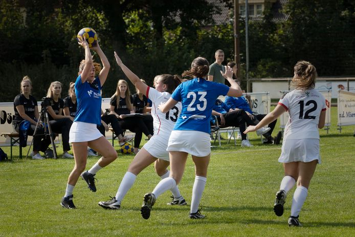 De eerste wedstrijden als gefuseerde korfbalclub zijn gespeeld op sportpak De Leeuwerik.