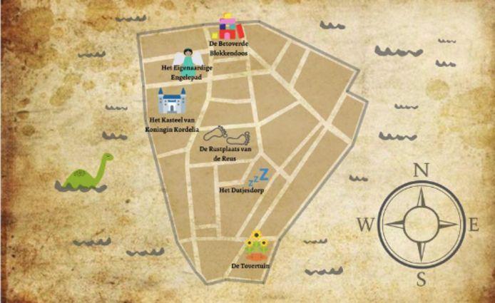 De kaart van het Land van A.