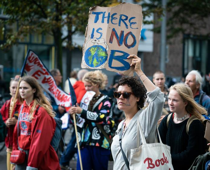 Jongeren protesteerden massaal voor een beter klimaat, in september vorig jaar in Den Haag.
