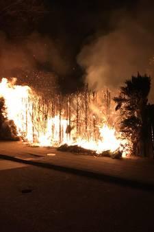 Fikse coniferenbrand in Almelo