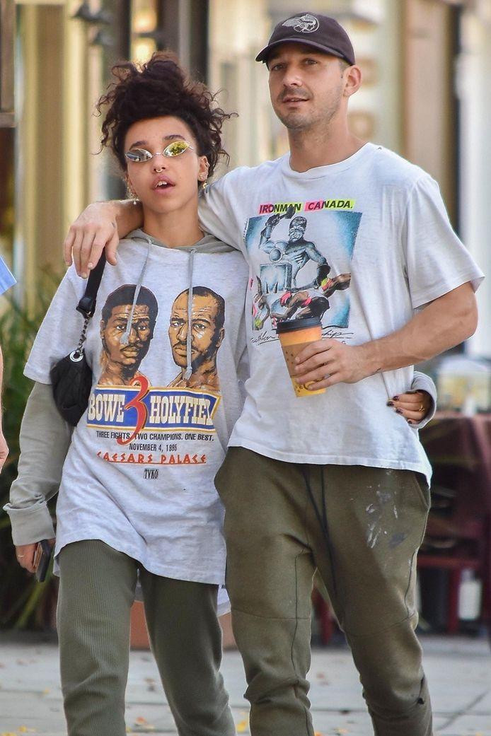 Shia LaBeouf en FKA Twigs in 2018.