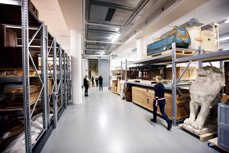 Het depot van het Amsterdam Museum.  Beeld Jean-Pierre Jans