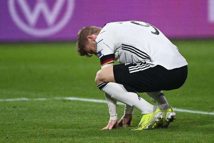 Een ontgoochelde Timo Werner.