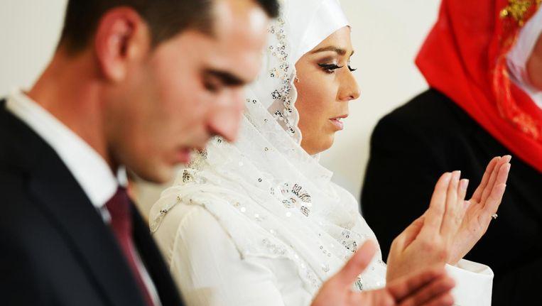 Een islamitische bruid en bruidegom. Beeld thinkstock