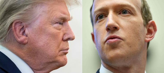 Ex-president Donald Trump en Facebook-CEO Mark Zuckerberg.