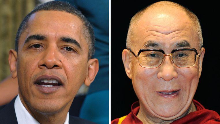 President Obama en de Dalai Lama. © ANP Beeld
