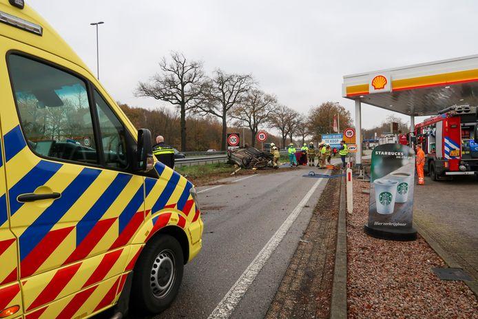 Op de A59 in Heesch ging het fout.