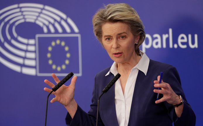 Ursula von der Leyen, president van de Europese Commissie. Roept die commissie Alphen straks op het matje?