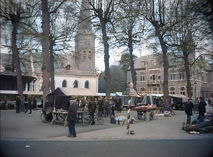 De Brink in Baarn zoals je die nog niet eerder zag op bewegend beeld: opgenomen in 1927 maar dan ingekleurd.