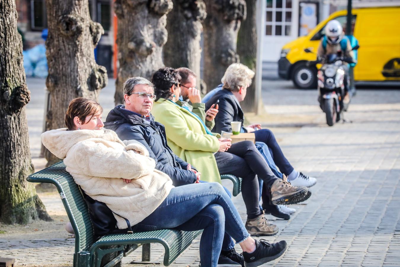 de voorlopig laatste lentedag te Brugge
