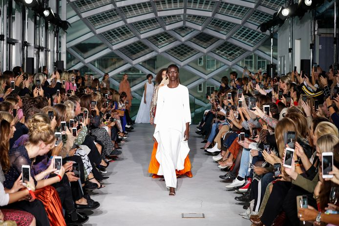 Modeshow van Natan tijdens Amsterdam Fashion Week in september 2019.