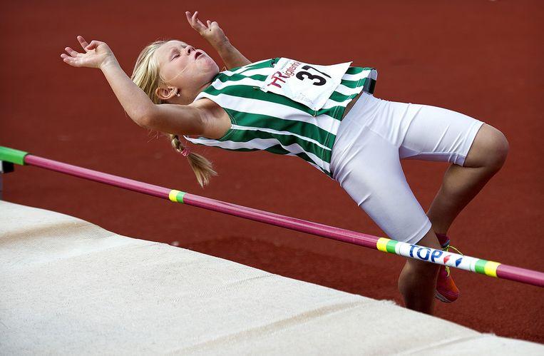 Atletiek hoogspringen medaillewedstrijden, MPMini, Dronten Beeld Klaas Jan van der Weij