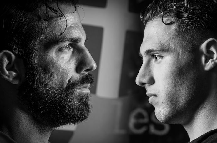 PEC-doelman Kostas Lamprou (links) en Giannis Botos van GA Eagles staan zondag tegenover elkaar in de IJsselderby.