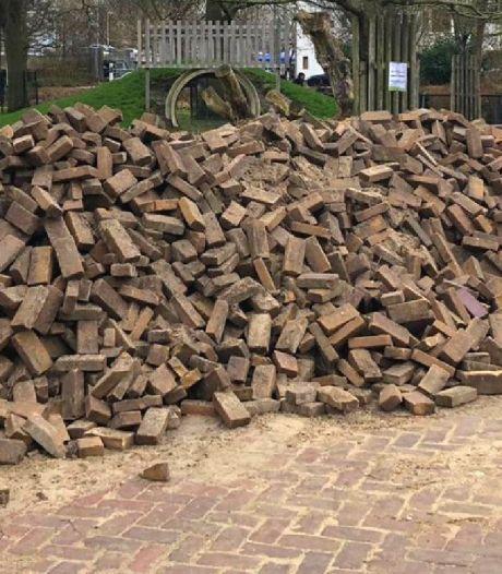 Natuurcentrum wipt 2637 tegels uit de grond en nu staat Gorinchem op nummer 2 in de 'tegelstand'