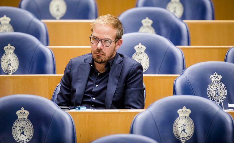 Gijs van Dijk (PvdA) in de Tweede Kamer. Beeld ANP