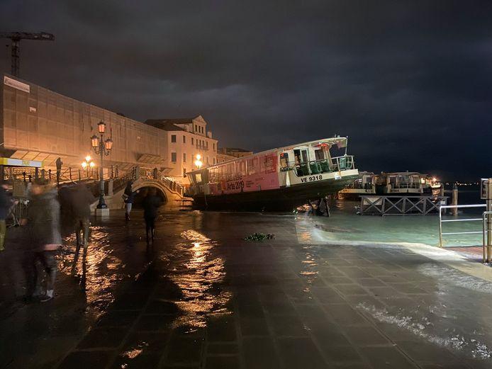 Grote overstromingen in Venetië.