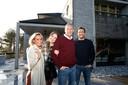 Het gezin Verhulst: Ellen, Marie, Gert en Viktor.