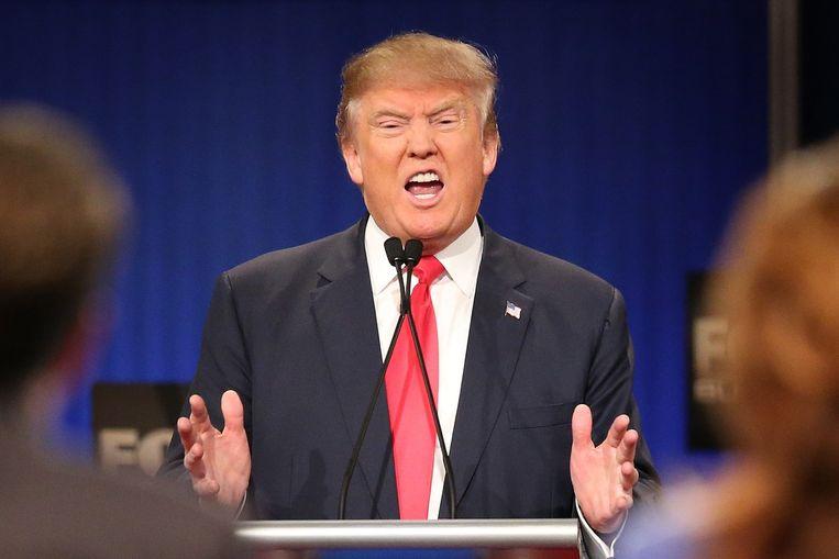 Donald Trump was in het debat, zo blijkt uit onderzoek van NPR-radio, het meest aan het woord. Beeld AFP