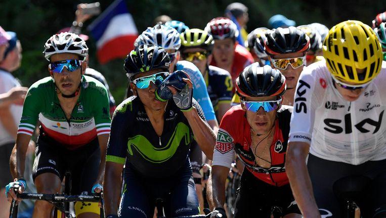 Latere winnaar Fabio Aru, Nairo Quintana, BMC-kopman Richie Porte en Chris Froome - de favorieten op een rijtje Beeld anp