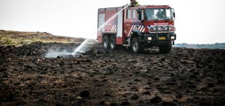 Brandweer blust voor de zekerheid vandaag weer op de Veluwe