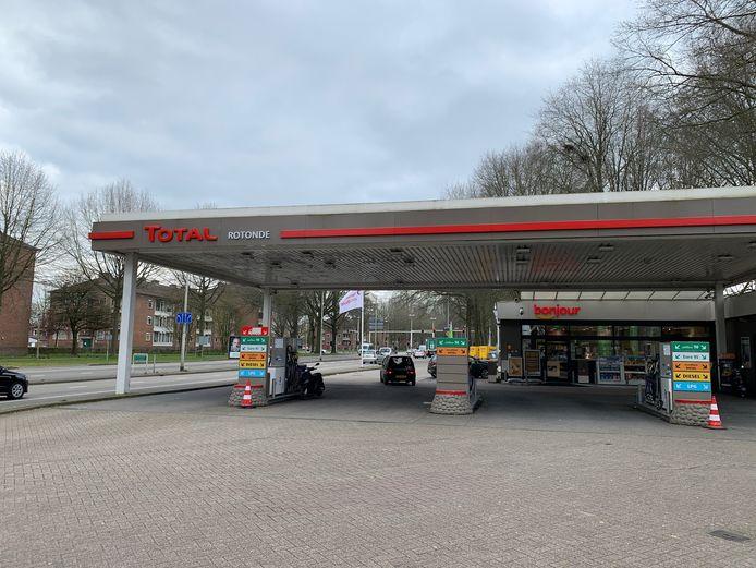 Een tankstation van Total.