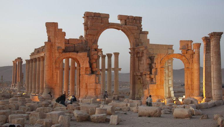 Archieffoto: de triomfboog in Palmyra Beeld epa