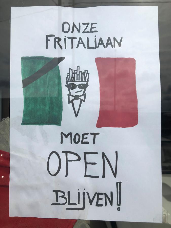 Aan heel wat ramen in Melsbroek hangen affiches om de Fritaliaan te steuen.