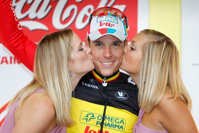 Philippe Gilbert, hier in het shirt van Omega Pharma-Lotto na een zege.