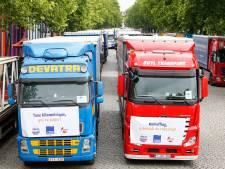 Taxe kilométrique: Voiries bloquées par les camionneurs jusqu'à vendredi matin