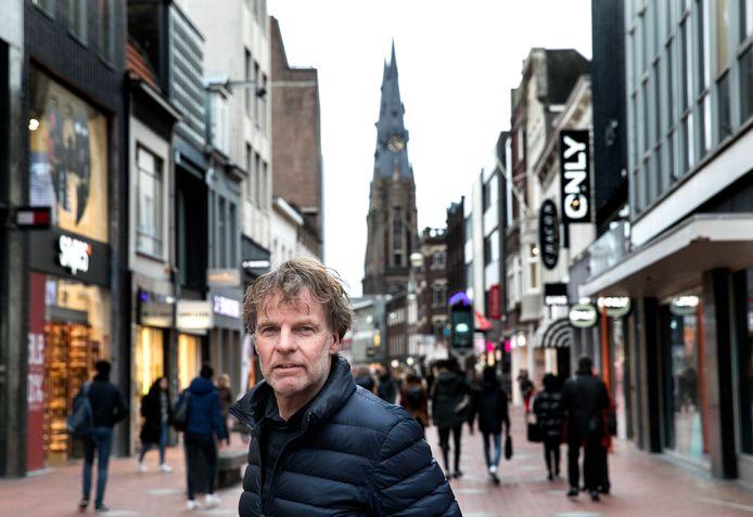 Winy Maas op de Rechtestraat in Eindhoven