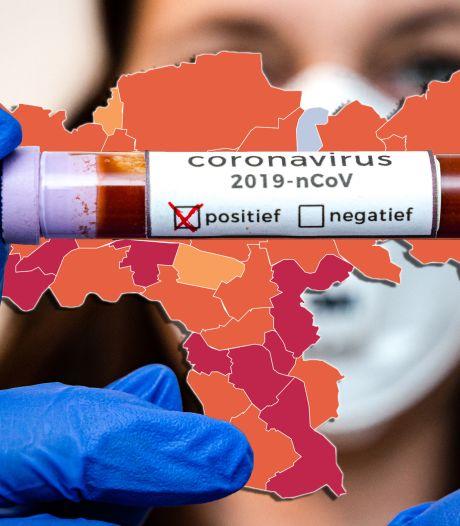 CORONAKAART | Landelijk meer besmettingen, maar dalende cijfers in helft regiogemeenten