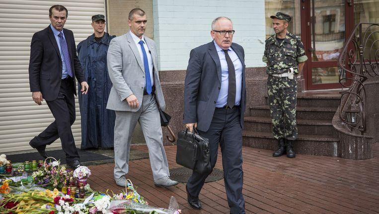 Minister Frans Timmermans van Buitenlandse Zaken (rechts). Beeld getty