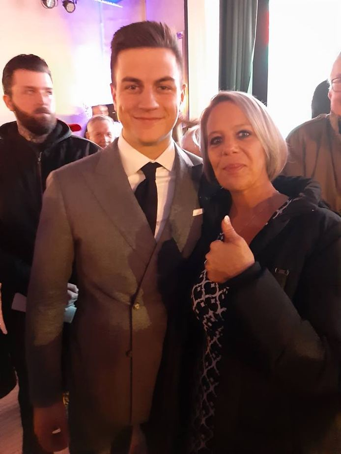 Katrina Langlet samen met haar grote voorbeeld Dries Van Langenhove.