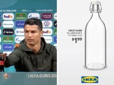 """Ikea lance des bouteilles d'eau """"Cristiano"""" après le """"bottlegate"""""""