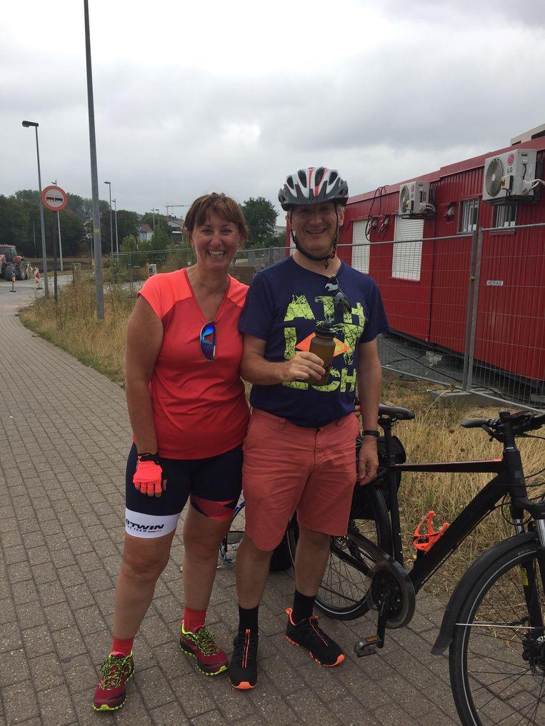 Karine Van Goethem en Geert De Graef fietsten deze zomer naar Santiago de Compostella.