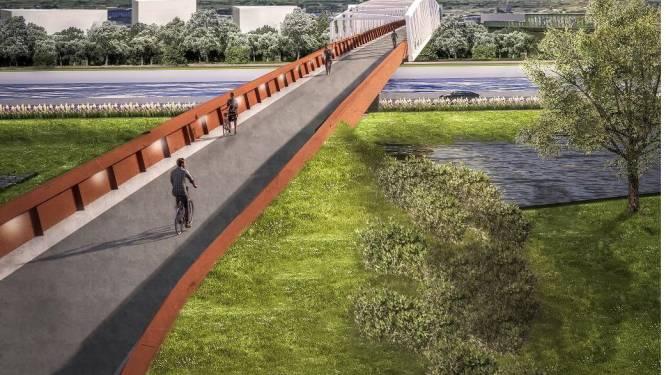 Provincieraad keurt subsidie goed voor bouw fietsbrug over Ringvaart