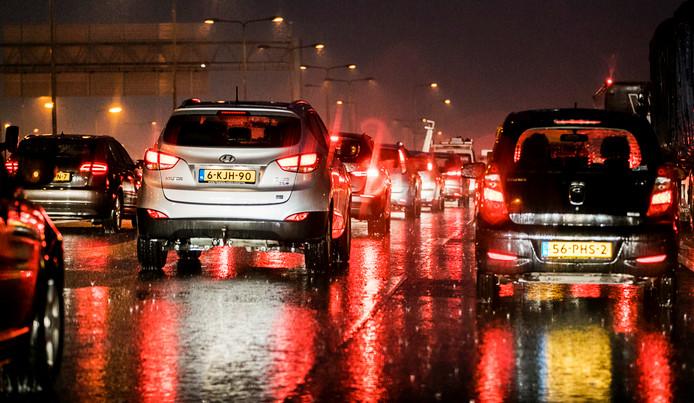 Remmen, gas, remmen, gas, veel automobilisten deden deze week twee keer langer dan normaal over hun rit.