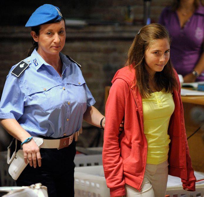 Amanda Knox tijdens haar proces in september 2009.