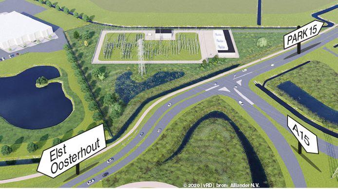 WEBVERSIE 3735 trafo station oosterhout impressie tekening met verkeersborden en plaatsen antoon van rossum vanrossumdesign