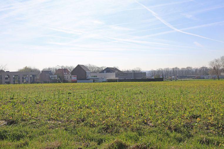 De gronden tussen de Essenestraat en de rotonde van de industriezone worden ook ingericht voor bedrijven.