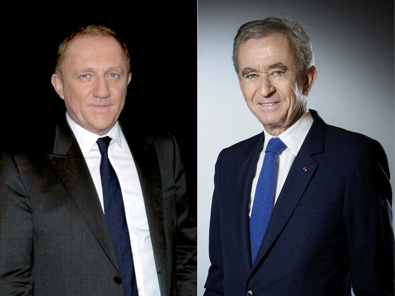 Francois-Henri Pinault (links) en Bernard Arnault (rechts). Beeld AFP