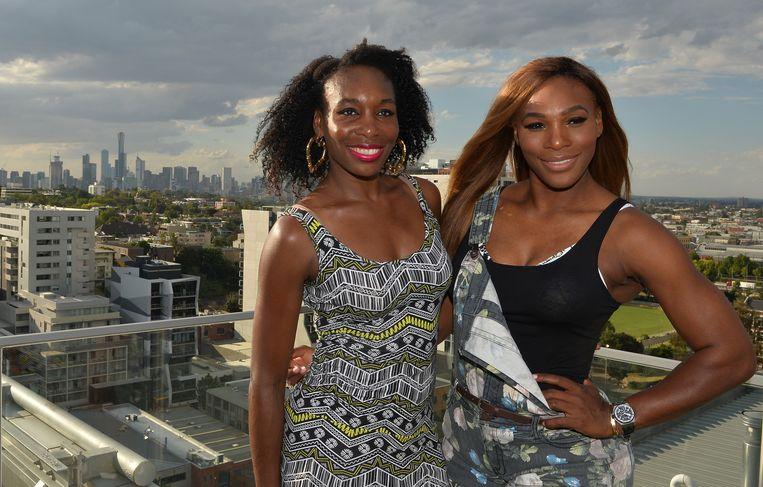 Venus (links) en Serena Williams. Beeld AFP