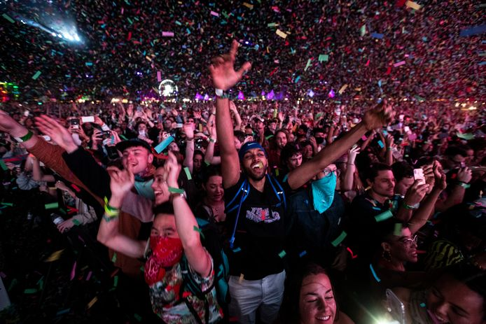 Archiefbeeld. Het publiek geniet van een optreden van de Australische band Tame Impala tijdens Coachella 2019. (20/04/2019)