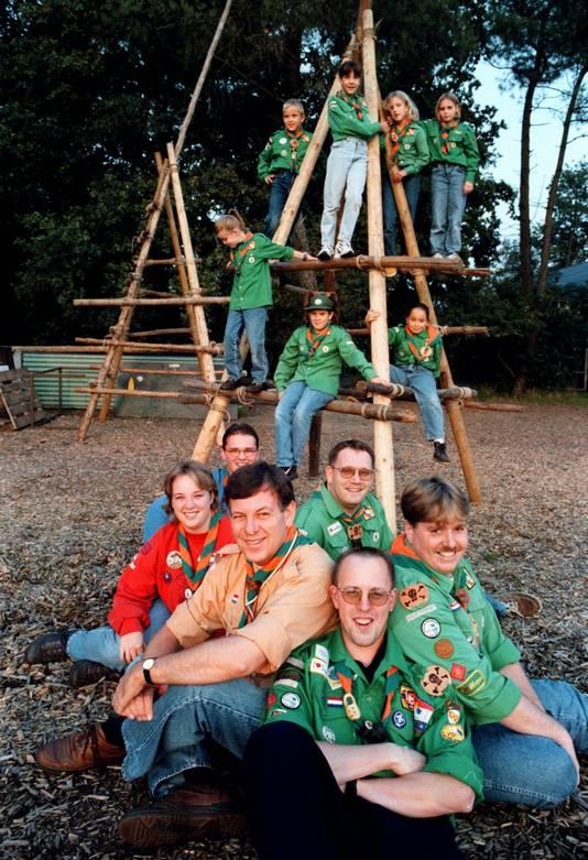 De Scouting Hoogerheide bestond in 1998 40 jaar.