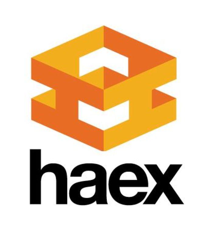 Het logo van Haex.