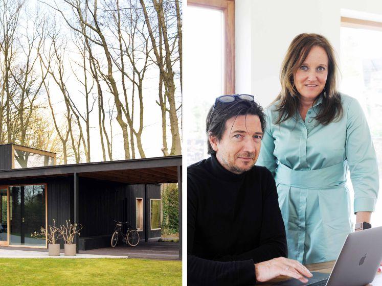 """Els (49) en Geert (52) ruilden hun huis in een drukke buurt voor een moderne chalet midden in het groen: """"Alsof we altijd op vakantie zijn"""""""