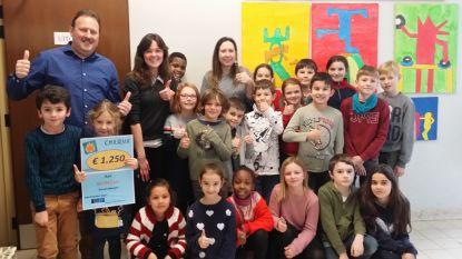 Basisschool GO! Dender schenkt 1.250 euro aan WONOzo