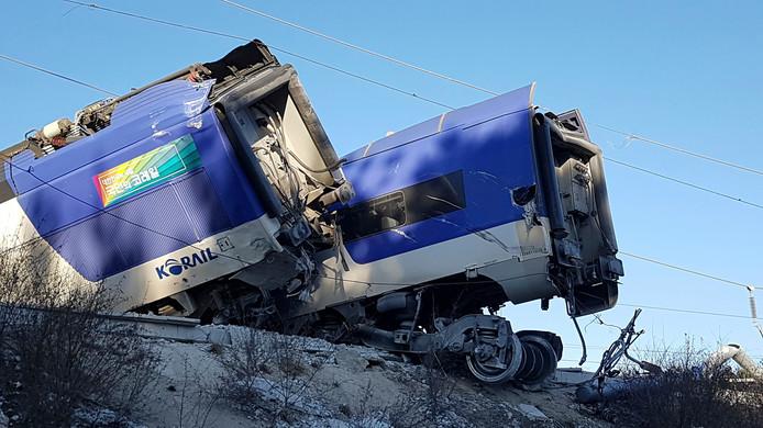 Het treinongeluk is het eerste op het nieuwe traject Gangneung - Seoul.