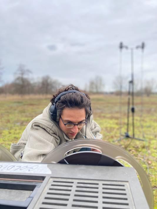Mathijs Leeuwis tijdens een opname in Moerenburg
